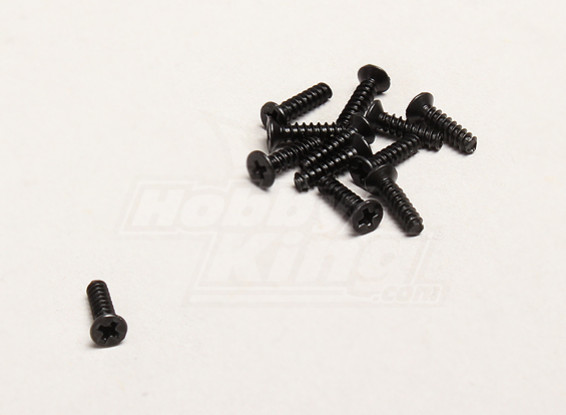 Autofilettanti 2.6x10mm a testa piatta Croce Vite (12pcs / bag) - Turnigy Trailblazer 1/8, XB e XT 1/5