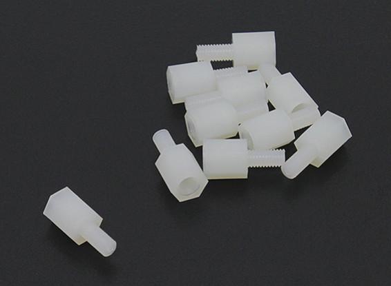 5,6 millimetri x 13mm M3 Nylon filettato Spacer (10pc)