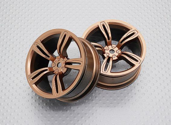 Scala 1:10 di alta qualità Touring / Drift Wheels RC 12 millimetri Hex (2pc) CR-M5G