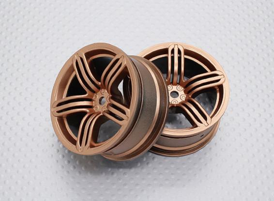 Scala 1:10 di alta qualità Touring / Drift Wheels RC 12 millimetri Hex (2pc) CR-RS6G