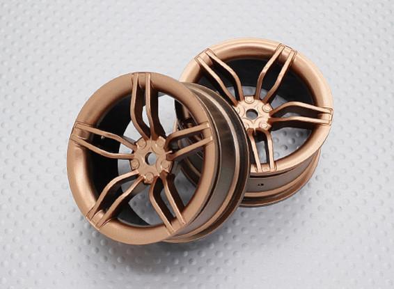 Scala 1:10 di alta qualità Touring / Drift Wheels RC 12 millimetri Hex (2pc) CR-FFG