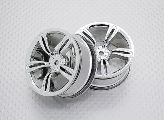 Scala 1:10 di alta qualità Touring / Drift Wheels RC 12 millimetri auto Hex (2pc) CR-M5C