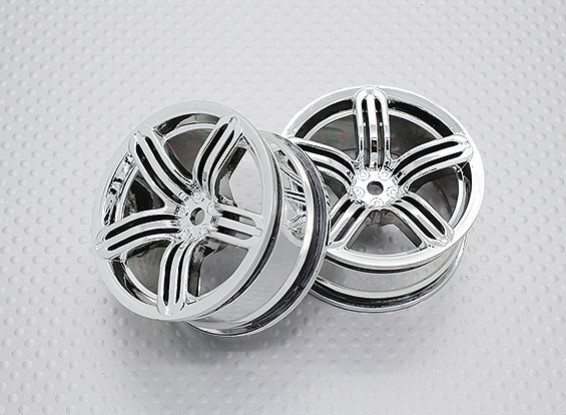 Scala 1:10 di alta qualità Touring / Drift Wheels RC 12 millimetri auto Hex (2pc) CR-RS6C