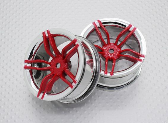 Scala 1:10 di alta qualità Touring / Drift Wheels RC 12 millimetri Hex (2pc) CR-FFR