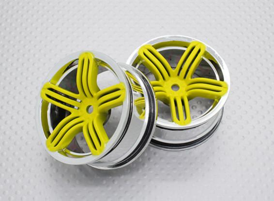 Scala 1:10 di alta qualità Touring / Drift Wheels RC 12 millimetri auto Hex (2pc) CR-RS6Y