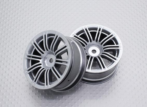 Scala 1:10 di alta qualità Touring / Drift ruote RC auto 12mm Hex (2pc) CR-M3S