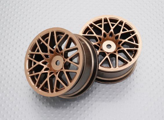 Scala 1:10 di alta qualità Touring / Drift Wheels RC 12 millimetri Hex (2pc) CR-LBG