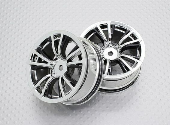 Scala 1:10 di alta qualità Touring / Drift Wheels RC 12 millimetri Hex (2pc) CR-BRC