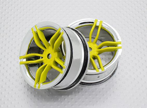 Scala 1:10 di alta qualità Touring / Drift Wheels RC 12 millimetri Hex (2pc) CR-FFY