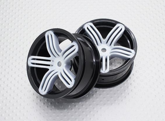 Scala 1:10 di alta qualità Touring / Drift Wheels RC 12 millimetri Hex (2pc) CR-RS6SW