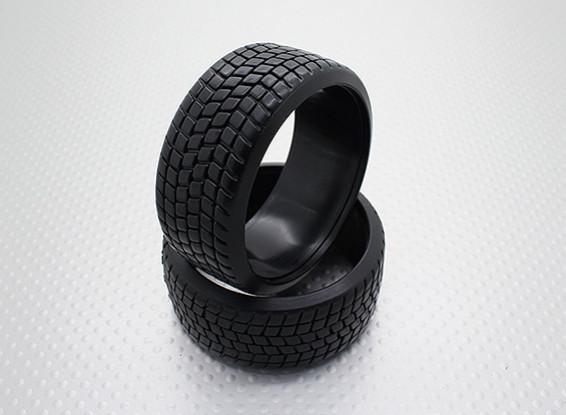 Scala 1:10 Compound plastica dura CR-Square Drift Gomme (2 pezzi)