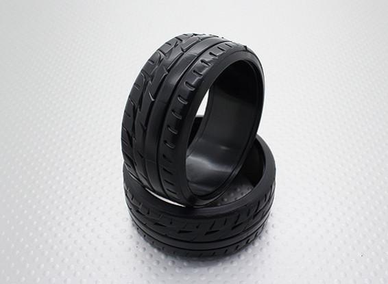Scala 1:10 Compound plastica dura CR-F1 Drift Pneumatici (2 pezzi)