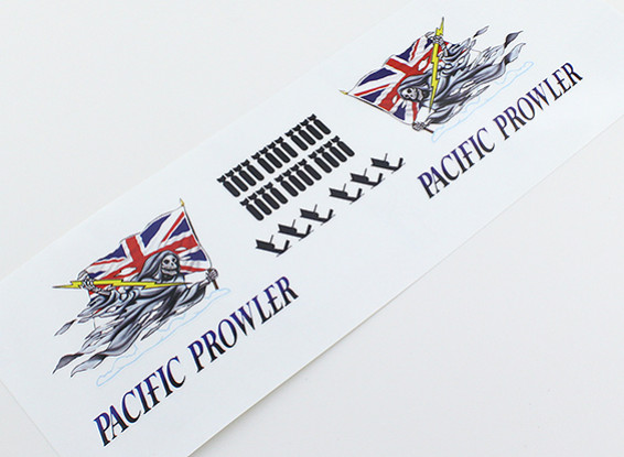 "Nose Art - ""PROWLER PACIFIC"" (Union Jack Flag) L / R Handed Decal"