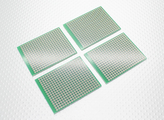 Fai da te 57x45mm PCB bordo di pane (4pcs / bag)