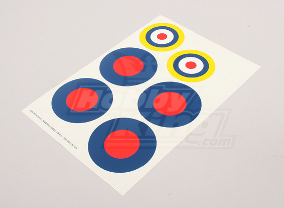 Scala nazionale Air Force Insignia Sticker Sheet - UK (tipo B)