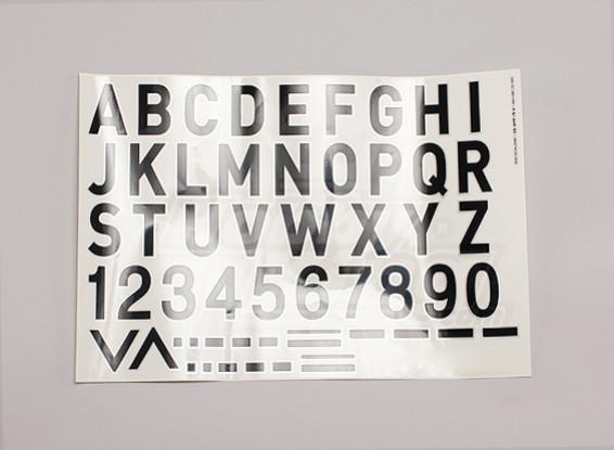 Lettere / Simboli nero-argento Luftwaffe Style (Med) Stile 2