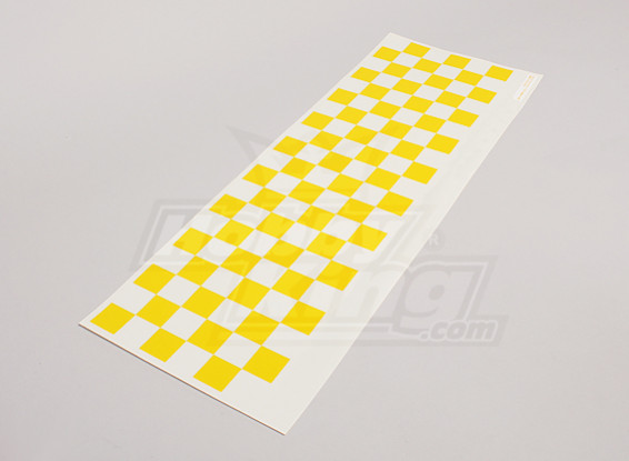 Decal Sheet Chequer modello giallo / Clear 590mmx180mm