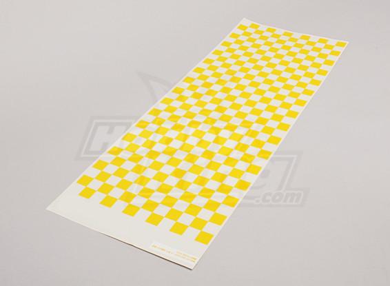 Foglio decal Piccolo Chequer modello giallo / Clear 590mmx180mm