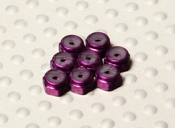 Viola alluminio anodizzato M2 Nylock Dadi (8pcs)