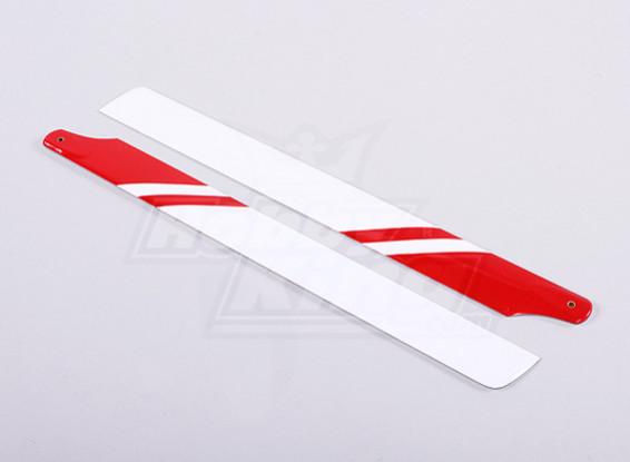 325 millimetri di carbonio / fibra di vetro composito principale Blade (rosso / bianco)
