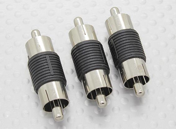 RCA maschio a maschio RCA A / V accoppiatore adattatore (3pc)
