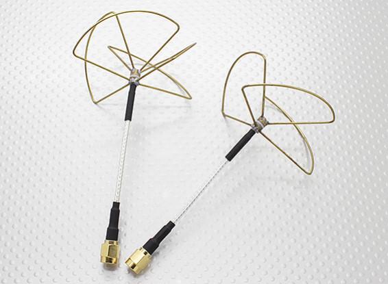 2.4 GHz circolare polarizzata antenna SMA (Set)