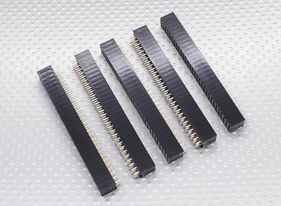3x30P Pin Socket - passo 2,54 mm (5pcs / bag)