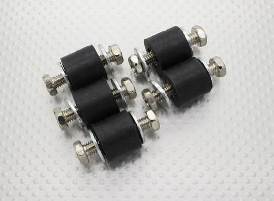 Antivibrazione in gomma blocchi di montaggio - M6 x D18 x H16mm - (5pc)