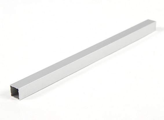 Alluminio Tubo quadrato fai da te multi-rotore 12.8x12.8x230mm (.5Inch) (argento)