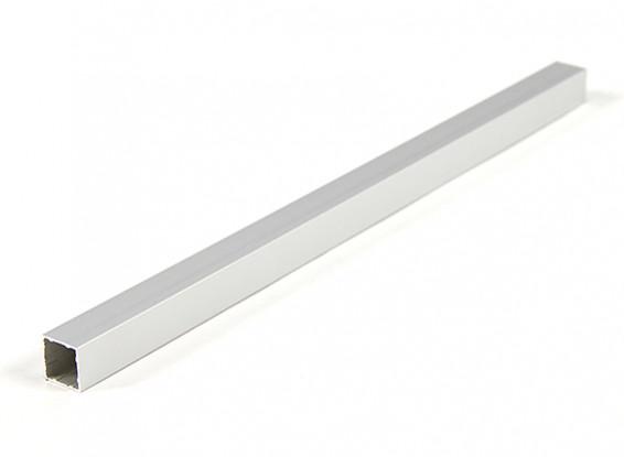Alluminio Tubo quadrato fai da te multi-rotore 12.8x12.8x250mm (.5Inch) (argento)