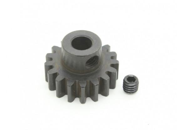 17T / 5mm M1 acciaio temperato pignone (1pc)