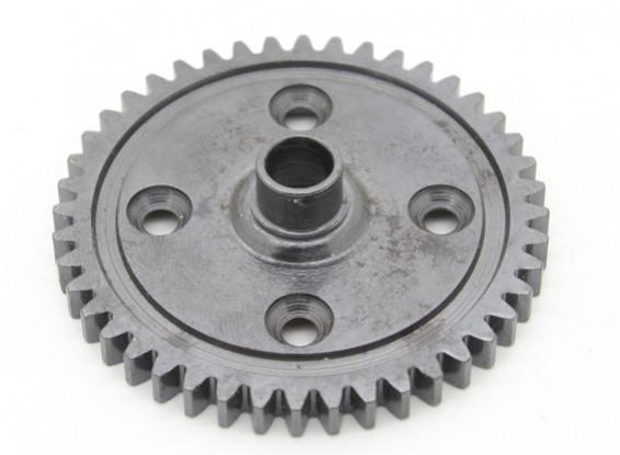 Basher Nitro Circus MT / Sabertooth acciaio indurito - Spur gear 44T