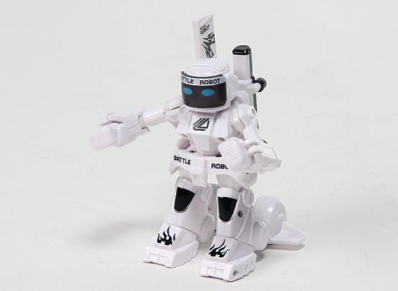 2ch Mini R / C Battaglia Robot con il caricatore (bianco)