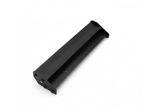 1/10 scala in alluminio a doppia ala posteriore regolabile (nero) 168 x 40mm