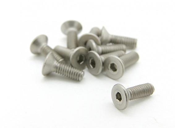 Titanium M2,5 x 8mm esagono incassato Vite (10pcs / bag)