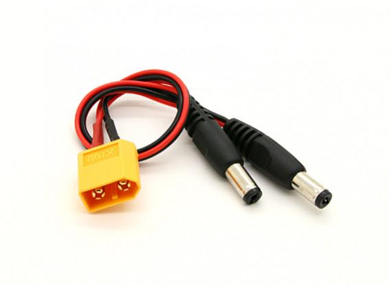 XT60 a 2 x DC Jack Converter (1pc)