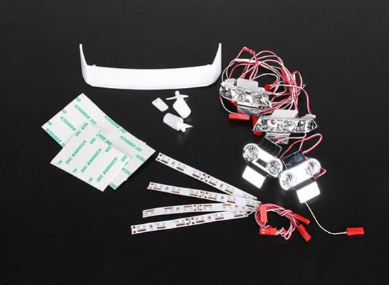 LED e supporto della lampada - Turnigy Piccolo Cosmo 1/16 Drift Car
