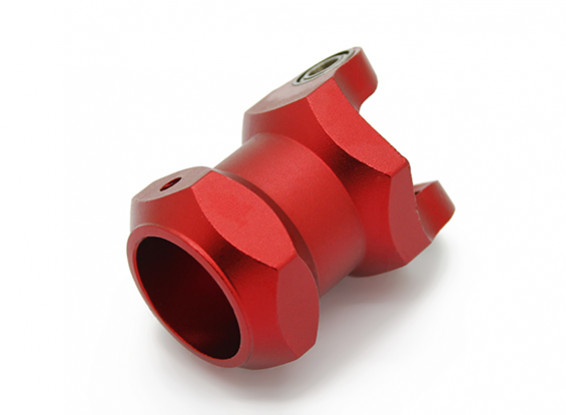 CNC in alluminio 16 millimetri pieghevole multi-rotore porta asta con cuscinetti (Red)
