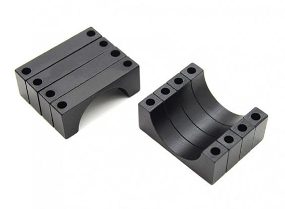 Anodizzato nero di alluminio di CNC 6 millimetri tubo morsetto diametro 22mm