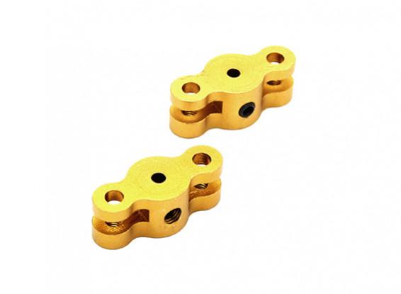 21 millimetri pieghevole Adattatore elica per due millimetri albero (oro) 1 coppia