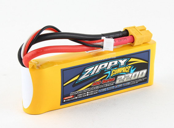 ZIPPY Compact 2200mAh 2s 40c Lipo Confezione