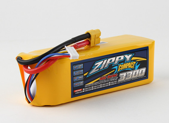 ZIPPY Compact 3300mAh 6s 40c Lipo Confezione