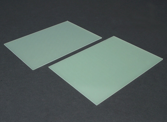 Scheda FR4 Epoxy Vetro 210 x 148 x 1,5 millimetri (2pc)