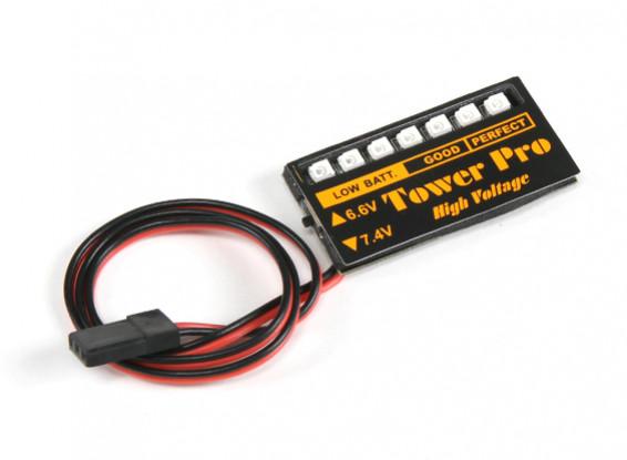 LED Rx di tensione della batteria Checker 6.6 ~ 7.4V LiPoly / LiFe