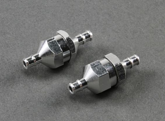 Alluminio filtro del carburante D10 × D4.0 × L29mm (2 pezzi)