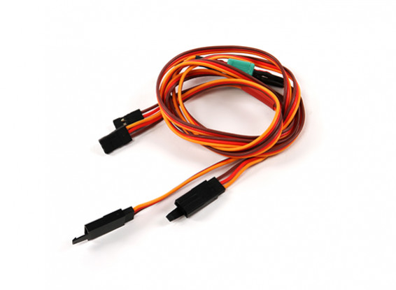 Ala Servo connettore 2xMale / 2xFemale JR con D-0953 MPX 700 millimetri di lunghezza (2 pezzi)