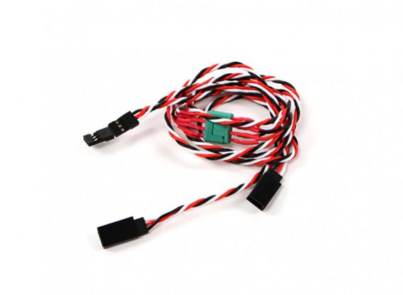 Ala Servo connettore 2xMale / 2xFemale Futaba con D-0953 MPX 500 millimetri di lunghezza (2Pieces)