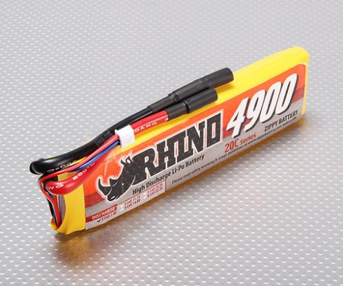 Rhino 4900mAh 2S1P 20C Lipoly Confezione
