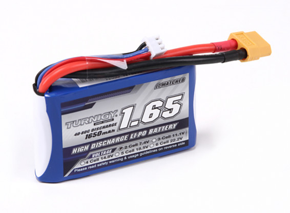 Turnigy 1650mAh 2S 40C Lipo Pack for H-King Sand Storm 1/12th 2WD Buggy-1