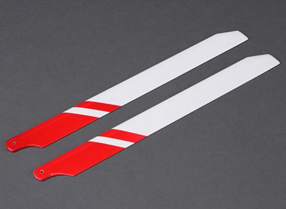 360 millimetri fibra di vetro principale Blades (rosso / bianco)